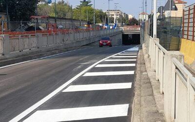Riapre il sottopasso Lingotto, le rampe di accesso e uscita e la seconda corsia di Via Nizza a Italia '61
